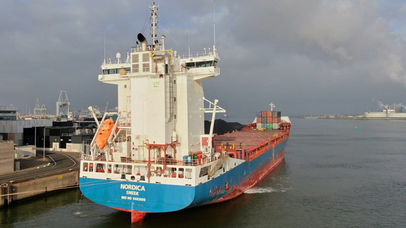 Maritime scrubber on ms Nordica